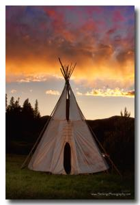 New Teepee Sunset Images